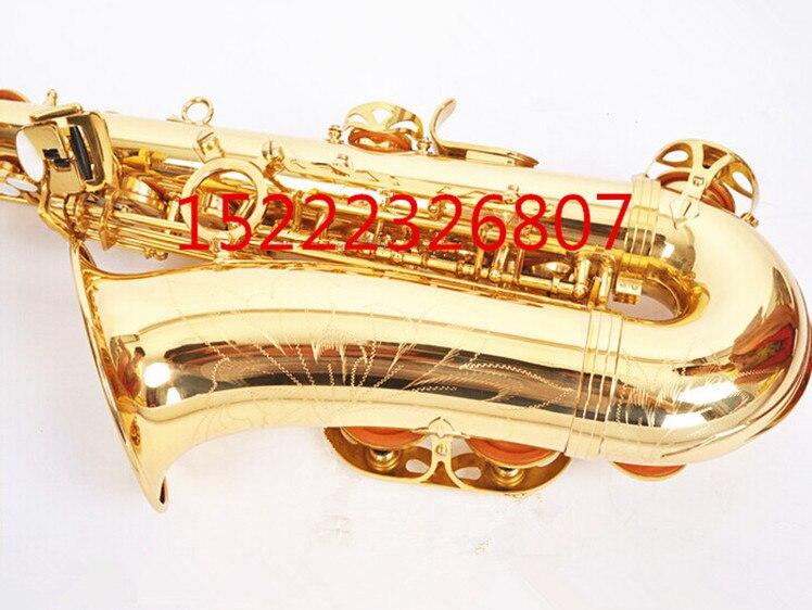 E flat alto saxophone sax musical instrument electrophoresis gold to send teaching reed shipping - 4