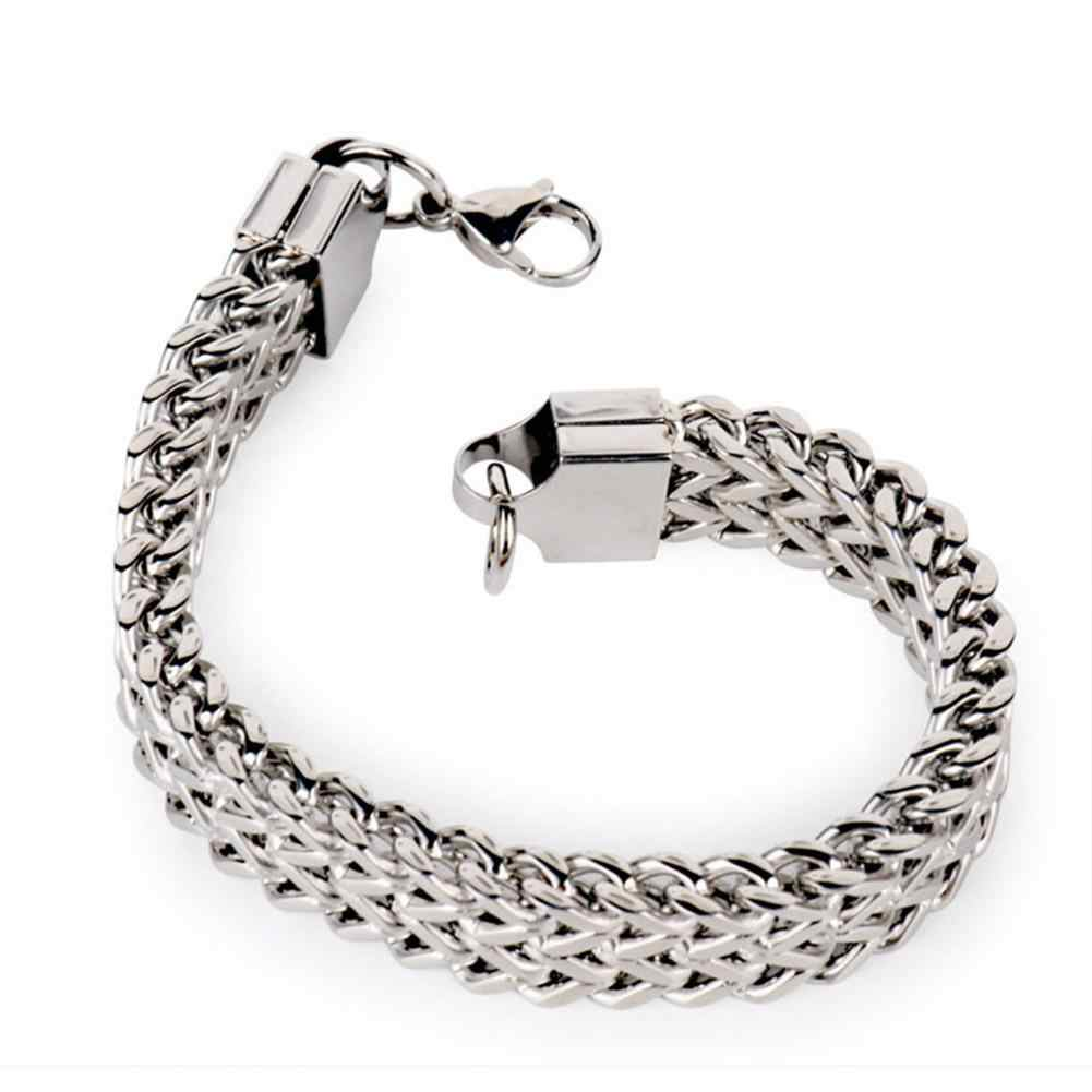 5/10/12mm Width Vintage Stainless Steel Snake Chain Bracelet Men Cool Jewelry New