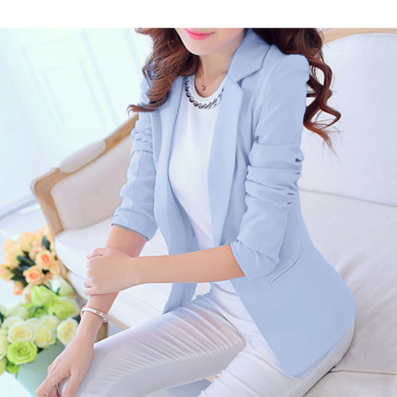 Bigsweety Blazer Mujer 2018 Women Single Breasted Blazers Overcoat Work Suits OL Outfits Feminino Autumn Business Coat Outwear