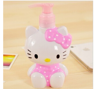 Kawaii 200ML Hello Kitty Bottle Hand Pressure Soap Lotion Cream Dispenser  Sanitizer