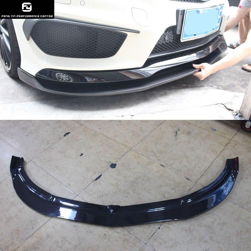 W117 CLA220 CLA260 becquet de lèvre de pare-chocs avant en Fiber de carbone pour Mercedes Benz W117 C117 CLA45 AMG 2014-2015