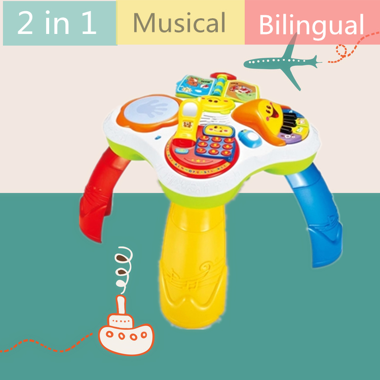 Walkers Multifunction Language Learning Table For Kids Baby Early Educational Toy Walker Tablet Reading Machine Puzzle Game Desk Activity & Gear