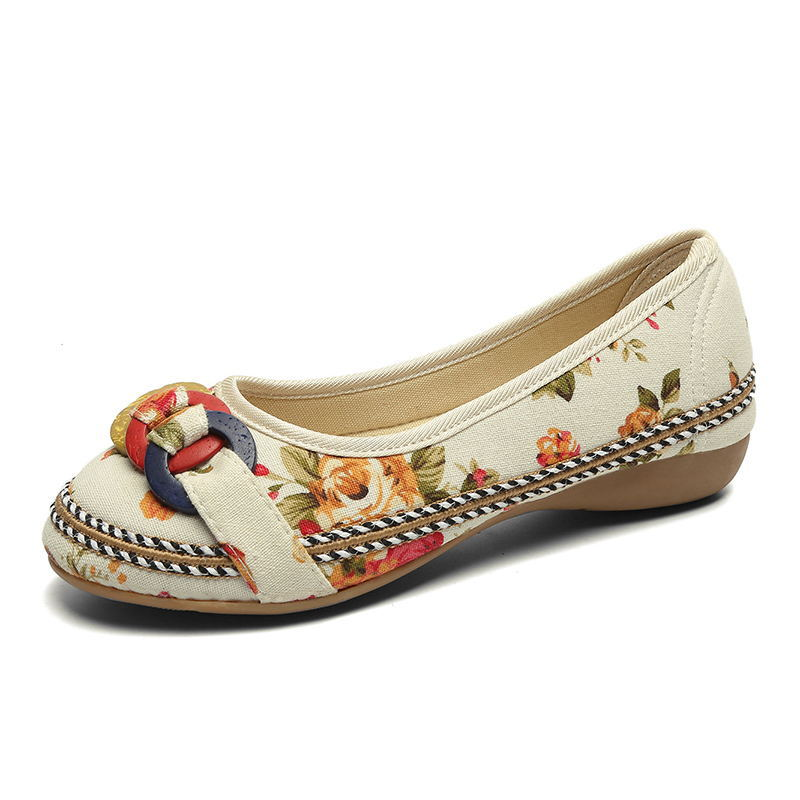 2019 Summer Casual Flat Shoes Women Flats Slip On Loafers Soft Shoes For Women Zapatos Mujer Retro Ethnic Embroidered in Women 39 s Flats from Shoes