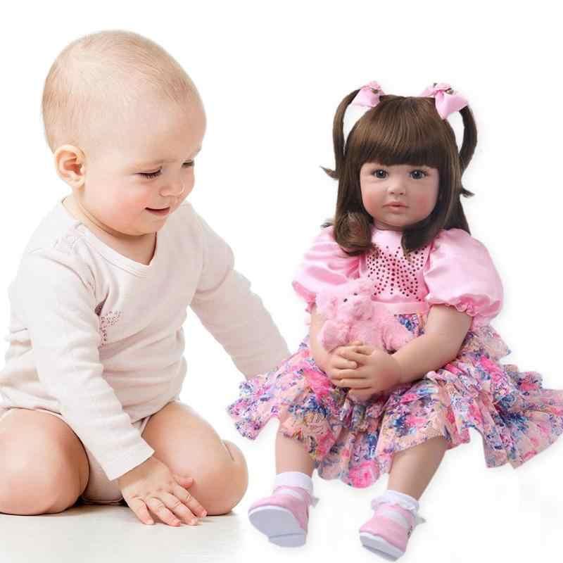 60 см виниловые Reborn Baby реалистичные куклы дети милые Друг детства развивающие игрушки обучение в детском саду помощь для сна куклы-модели ребенка