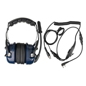Image 5 - EH050K רעש הפחתת תעופה מיקרופון אוזניות VOX נפח התאמת רמקול עם אצבע PTT לkenwood Baofeng UV 5R Retevis H777