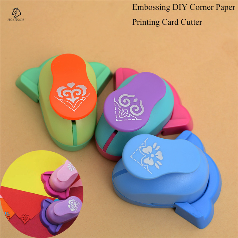 цена на Embossing DIY Corner Paper Printing Card Cutter Scrapbook Shaper large Embossing device Hole Punch Kids Handmade Craft gift
