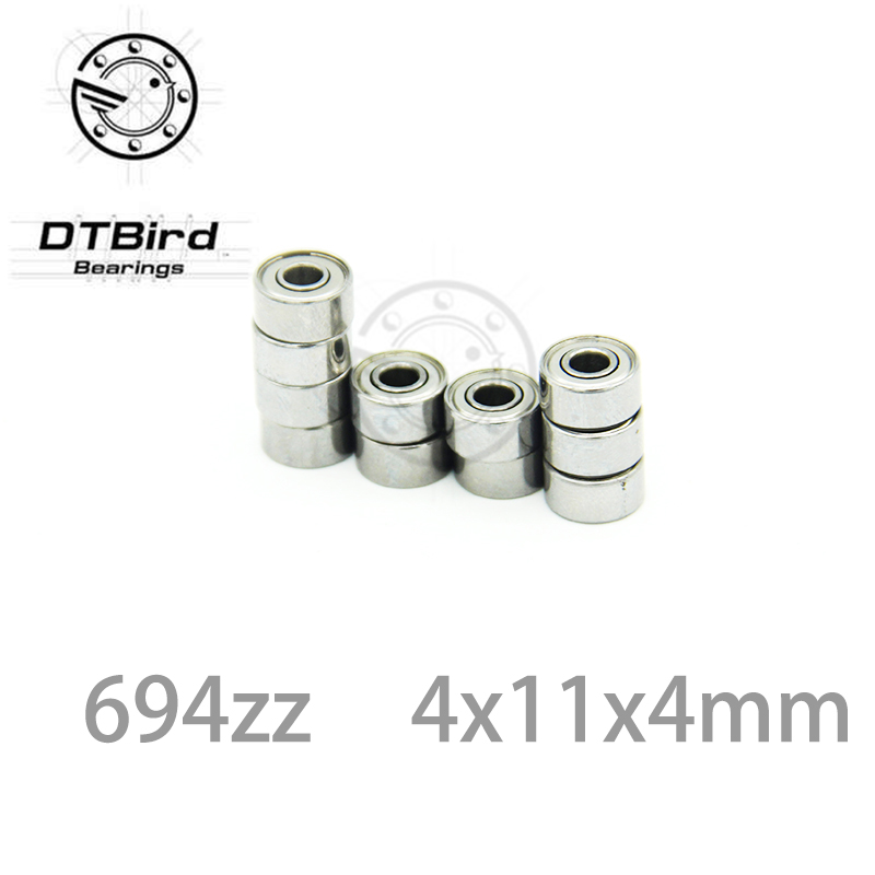 ABEC-5 10pcs 694zz 694 ZZ 694-2Z 4 * 11 * 4 deep groove ball bearings metal shielded 4mm shaft miniature ball bearing 4x11x4 MM 4mm walking guide rail groove u groove 604uu 4 12 4 5 mm 3d printer dedicated feeding roller bearings u604w5 u604zz