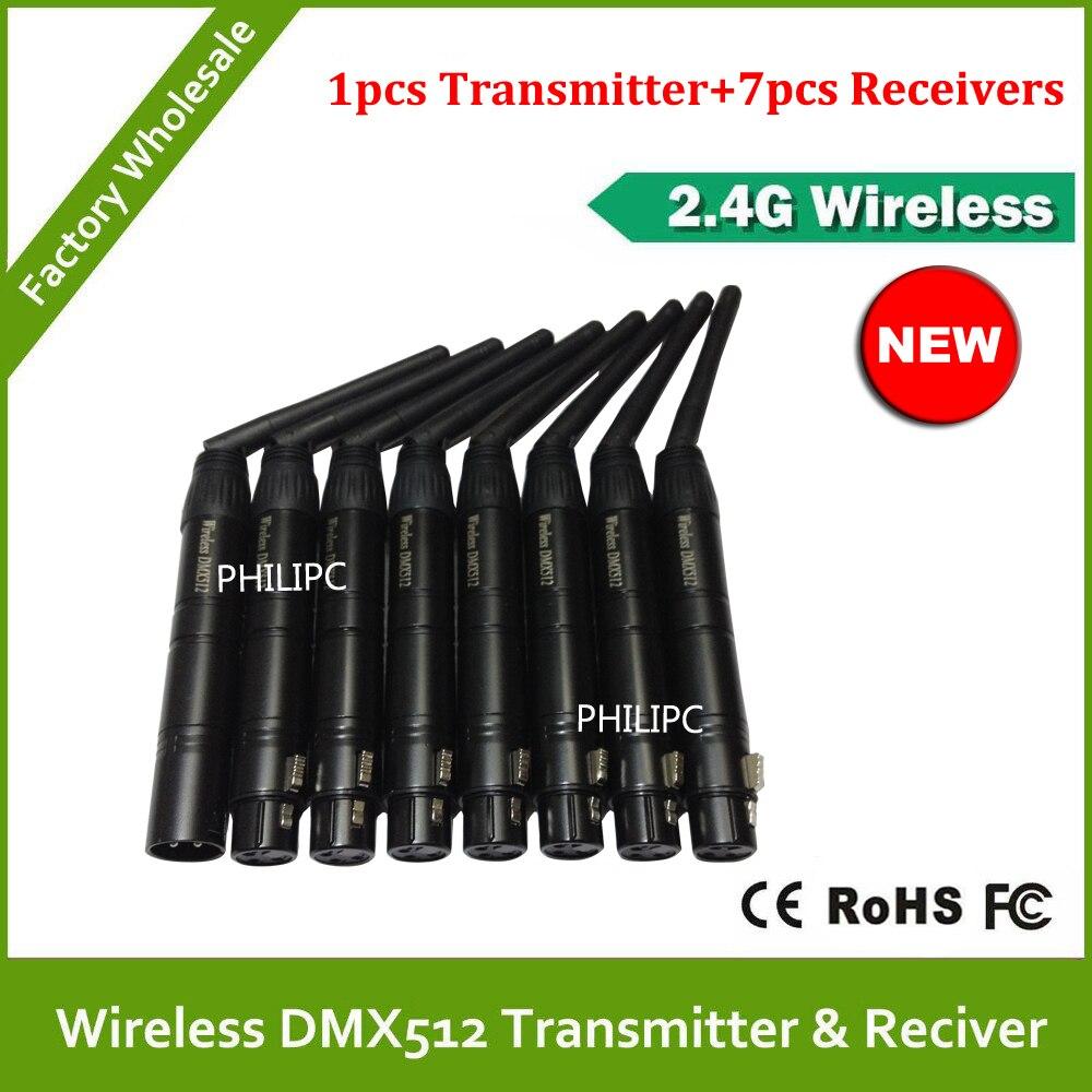 DHL Free Shipping DJ led stage light wireless dmx contrller wireless kit 8pcs/lot control DMX512 wireless transceiver
