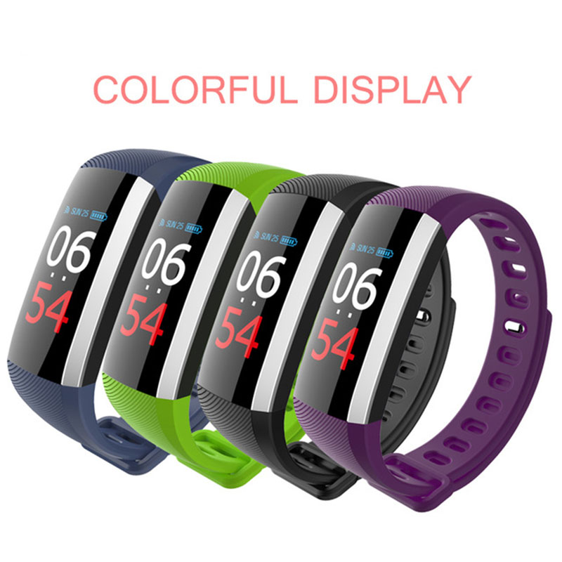HEINO Bluetooth colourful Touch Screen Smartband Blood Pressure Smart Wristband USB Char ...