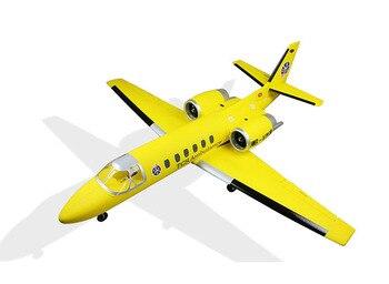 Ferngesteuerte Düsenflugzeuge | Dynam Gelb 1180MM Cessna 550 Turbo Jet RC PNP Propeller Flugzeug W/Motor Servos TH03704