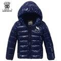 XIAOYOUYU Размер 100-160 Дети Мода Outerwears Капюшоном Молния Fly Закрытие Мальчики Теплое Пальто Сплошной Цвет Ребенок Повседневная Парки