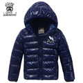 XIAOYOUYU Size 100-160 Children Fashion Outerwears Hooded Zipper Fly Closure Boys Warm Coats Solid Color Child Casual Parkas
