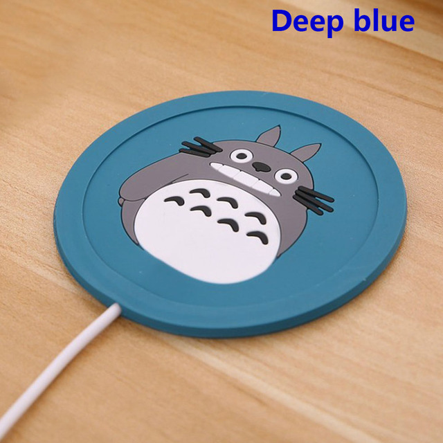 1 Pc USB taza almohadilla de silicona de dibujos animados calentador de café té bebida usb bandeja de calentador