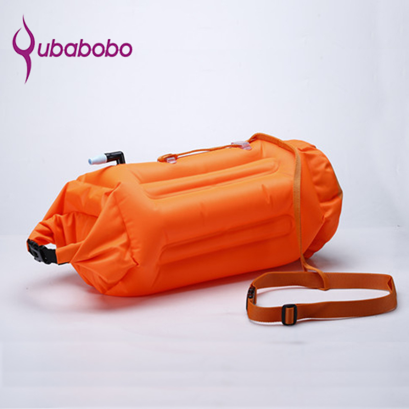 New Wave Swim Buoy-Open Water Swim Buoy With Dry Bag and Cellphone case for Swimmers, Highly Visible Buoy Float for Safe Swim