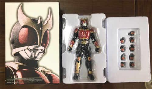 Hkxzm mascarado rider kuuga risingmighty pvc figura de ação kamen mascarado cavaleiro collectible modelo brinquedos presente