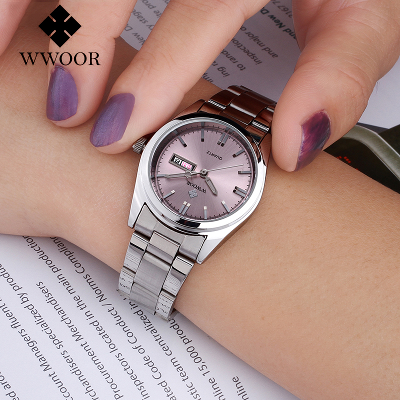 2016 New Luxury Brand Women s Quartz Watch Date Day Clock Stainless Steel Watch  Ladies Fashion Casual Watch Women Wrist Watches-in Women s Watches from ... 5253e6018