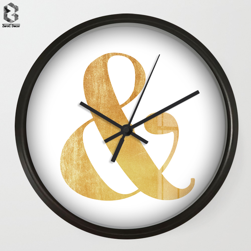 Chic Art Wall Clock & Symbol For Living Room Wall Decor, Bookshelf ...