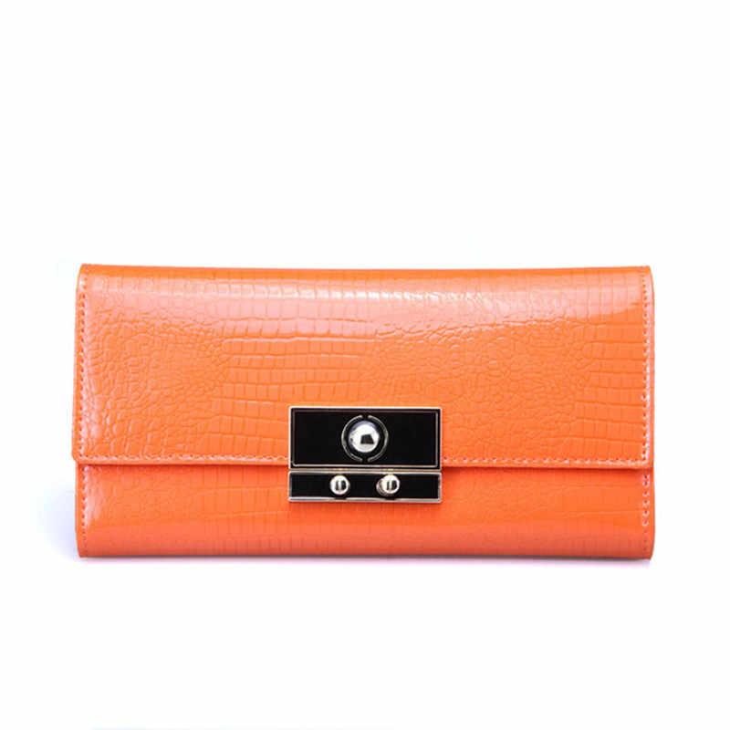 KEVIN YUN wysokiej jakości portfele damskie projektant zamek Patent skórzana portmonetka kobiet długi portfel w stylu casual, damska Carteira