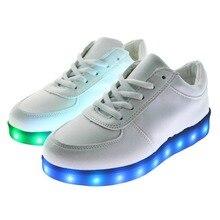 1 пара USB Мощность Для женщин LED красочный светящийся подсветкой танец плоским Обувь Спортивная обувь Вело-обувь