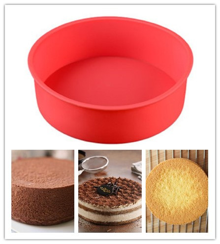 Big Round Silicone Cakes Molds Baking Dishes Pans For Brownie Chiffon Sponge Baking Tools Bread Cake Pans Loaf pans 17CM image
