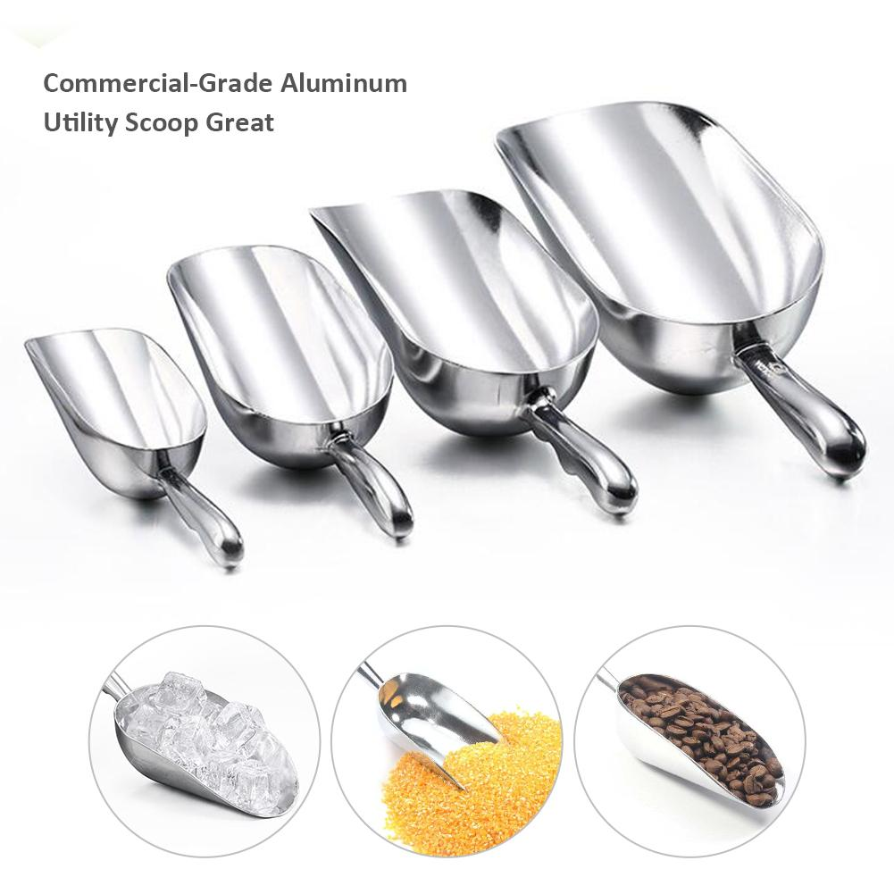Aluminum Alloy Measuring Spoon Ice Powder Sugar Shovel Supermarket Bar Multi-functional Food Shovel Ice Scoop Kitchen Tools 20E