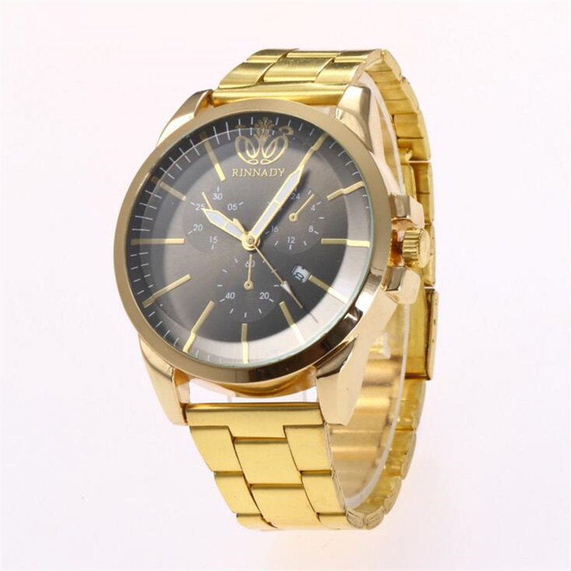 Simple Calendar Digital Alloy Gold Dial Men Luxury Quartz Watch Saat Erkekler Horloges Mannen Clock Relogio Masculino De Luxo N4 watch men led digital waterproof wristwatch casual man sport watches 2017 new weide famous brand saat erkekler horloges mannen