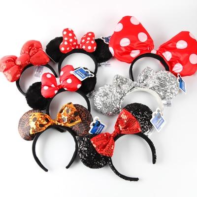 Kids Mickey Headband Cute Ear Hair Band Toy Minnie Halloween Cosplay Party Headwear Hair Joke Accessories