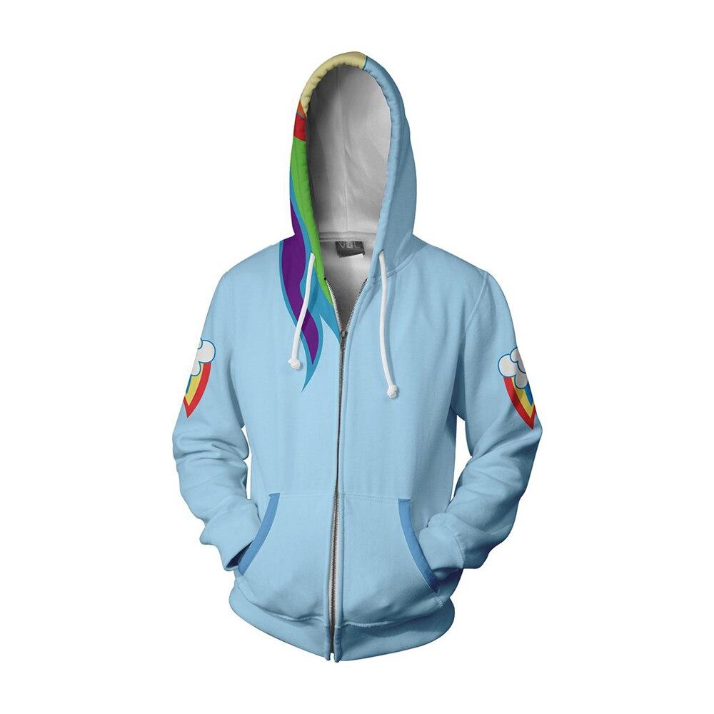 Mes adultes vêtements petits Ponys 3D imprimer Hoodies mignon femmes hommes Zipper chaud Sweatshirts à manches longues Hip Hop à capuche manteau veste