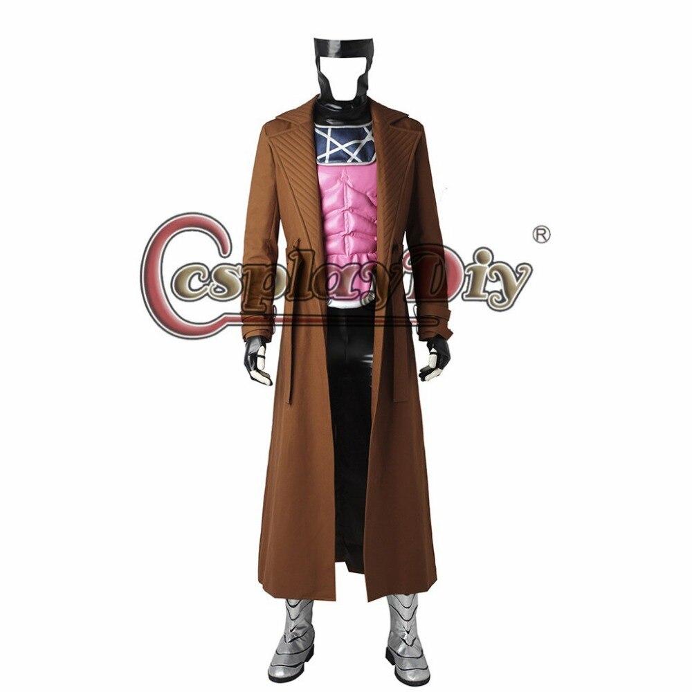 Cosplaydiy Custom Made X font b Men b font Gambit Cosplay Costume For font b Men