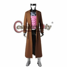 Cosplaydiy Custom Made X-Men Gambit Cosplay Costume For Men Halloween Outfit With Shoes J5