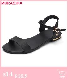 HTB1 B9qlqQoBKNjSZJnq6yw9VXaE MORAZORA Plus size 34-46 New genuine leather sandals women shoes fashion flat sandals cow leather summer rhinestone ladies shoes