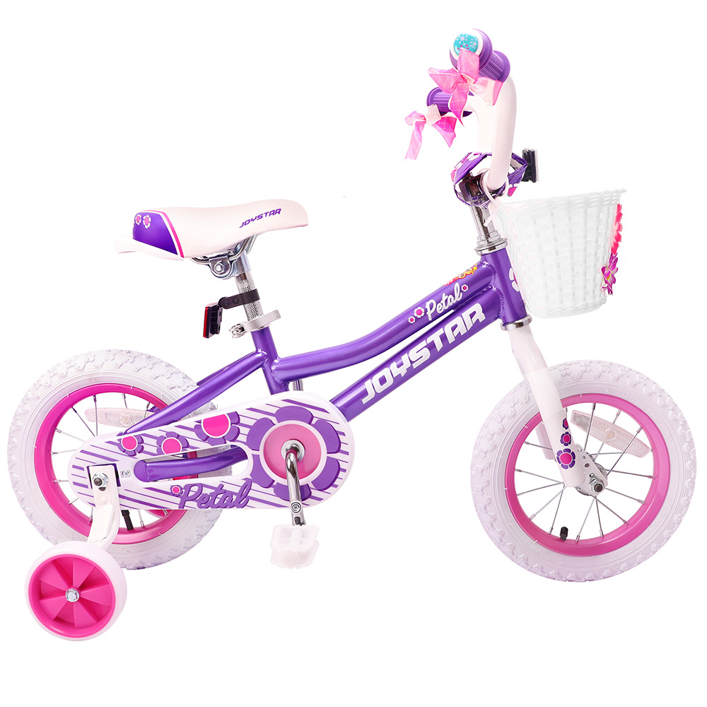 JOYSTAR Totem Series 14 inch Girl's Kids Bike Pink and Purple Children Bicycle for Three to Six Aged Boy ride on toys 12 14 16 kids bike children bicycle for 2 8 years boy grils ride kids bicycle with pedal toys children bike colorful adult page 4
