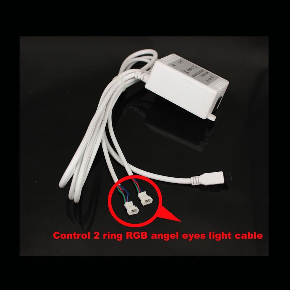 RGB Angel Eyes Multi-warna LED Ring Turnning Light DRL Mobil - Lampu mobil - Foto 4