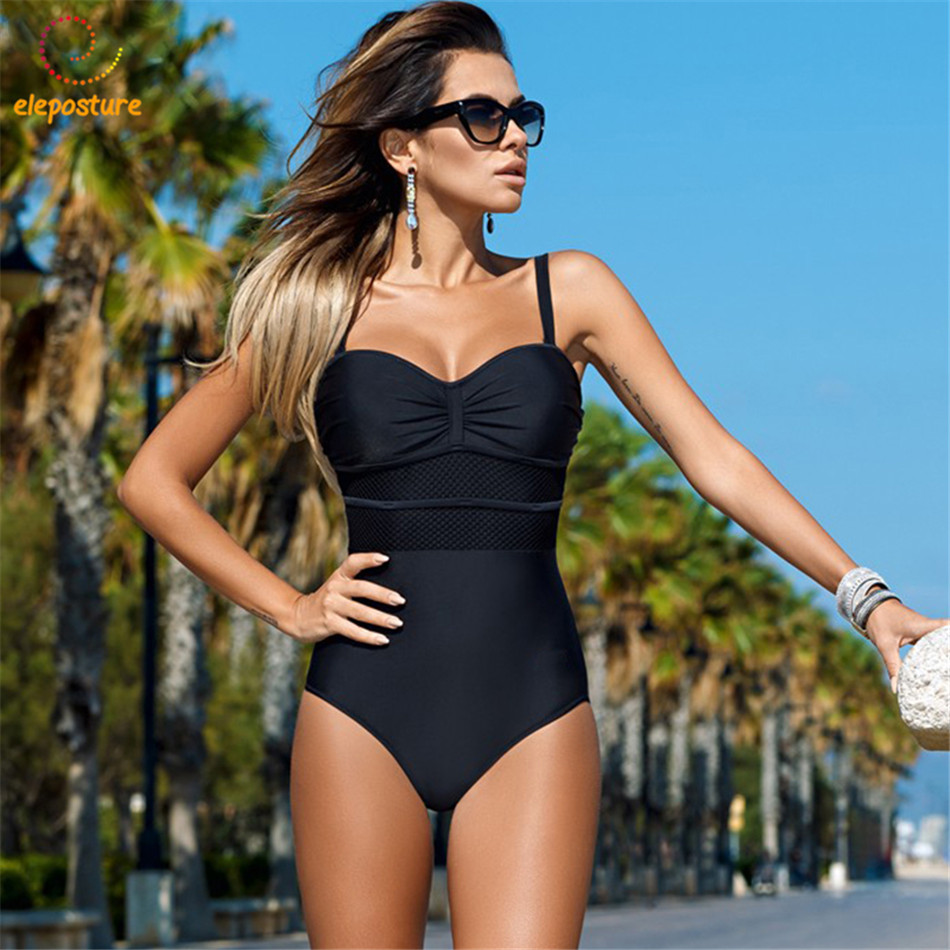 2018 Sexy One Piece Swimsuit Women Swimwear Push Up Swimsuit Bathing Suit Plus Size Swimwear Monokini Mesh Beach Wear Bodysuit aleumdr new 2017 plus size women bodysuit swimsuit print one piece monokini beach wear swimwear sexy bathing suits 410071