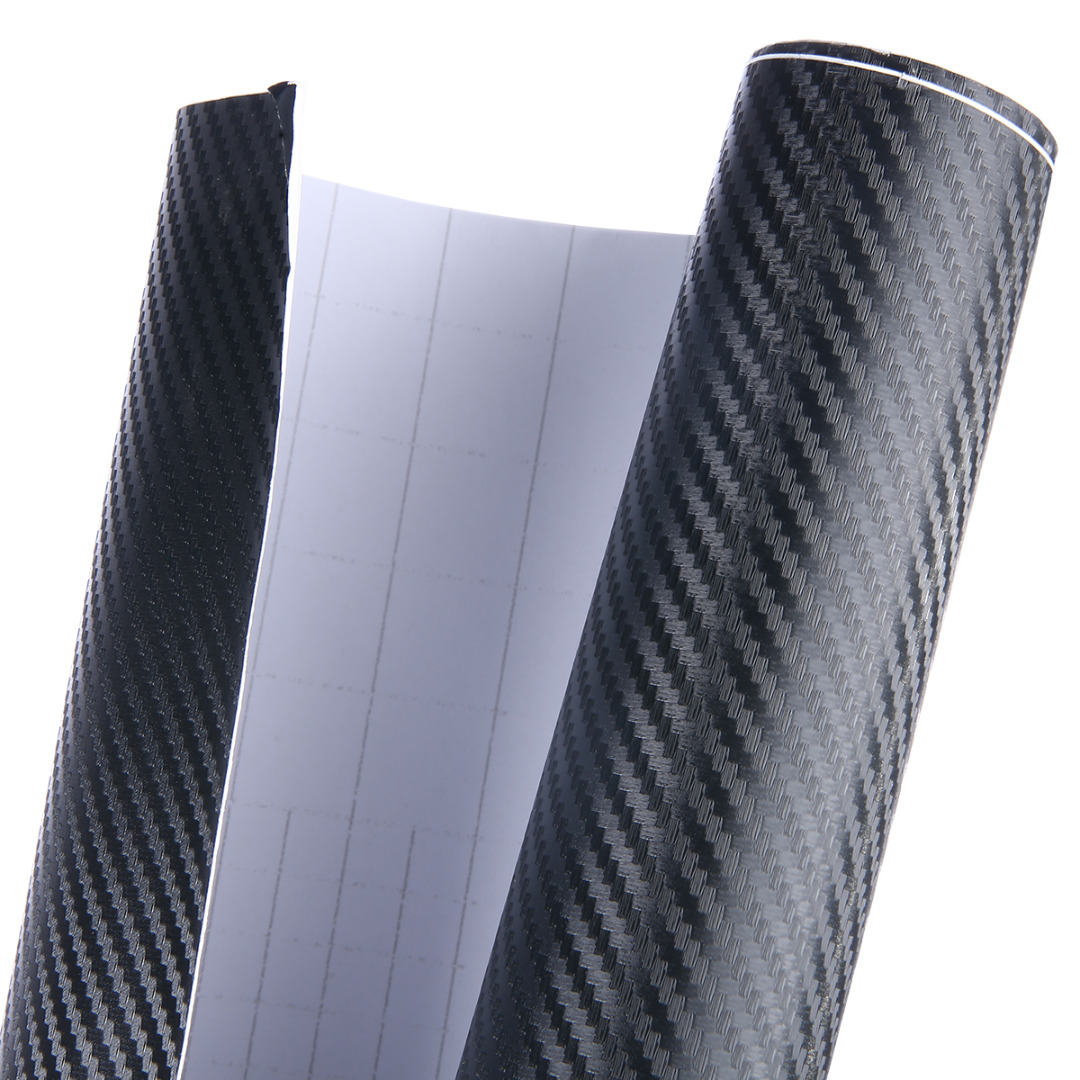 3D Matte Black Carbon Fiber Vinyl Wrap Sticker Decal Film Air Release 30x150/45x150/60x150cm FOR Car Styling