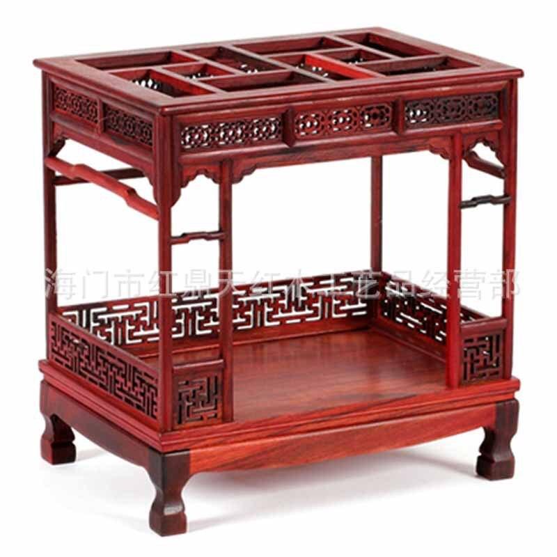 Поставка Мин и Цин мебель, резные деревянные ремесла миниатюрный старый мебель из красного дерева, украшения оптом палисандр с балдахином