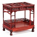 Supply of Ming and Qing furniture carved wooden crafts miniature old mahogany furniture, ornaments wholesale Rosewood Canopy Bed