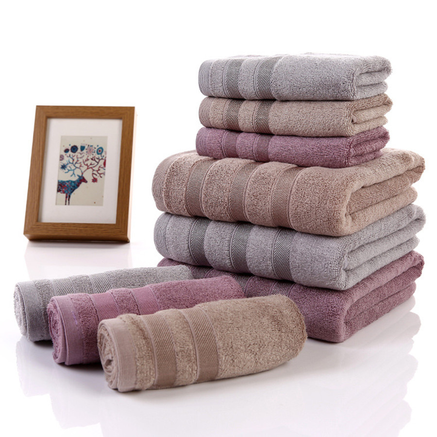 Alta Calidad 100% De Bambú Toalla de Baño Suave Sólido Textiles Para El Hogar To
