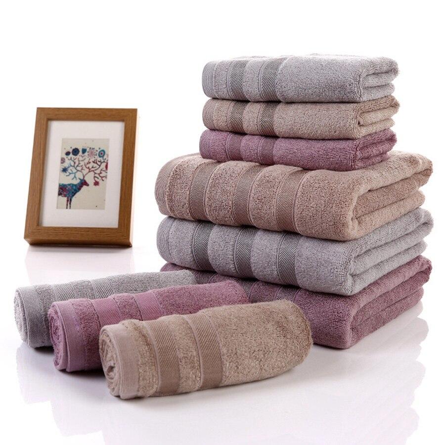 Alta calidad 100% de bambú Bañeras suave sólido textil de hogar Bañeras Cara toalla para adultos 35x75 cm 70x140 cm dos tamaño