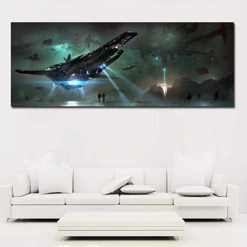 SELFLESSLY Wall Art Canvas Pictures For Living Room Home Decor Ships Star Citizen print canvas Oil Painting No Frame