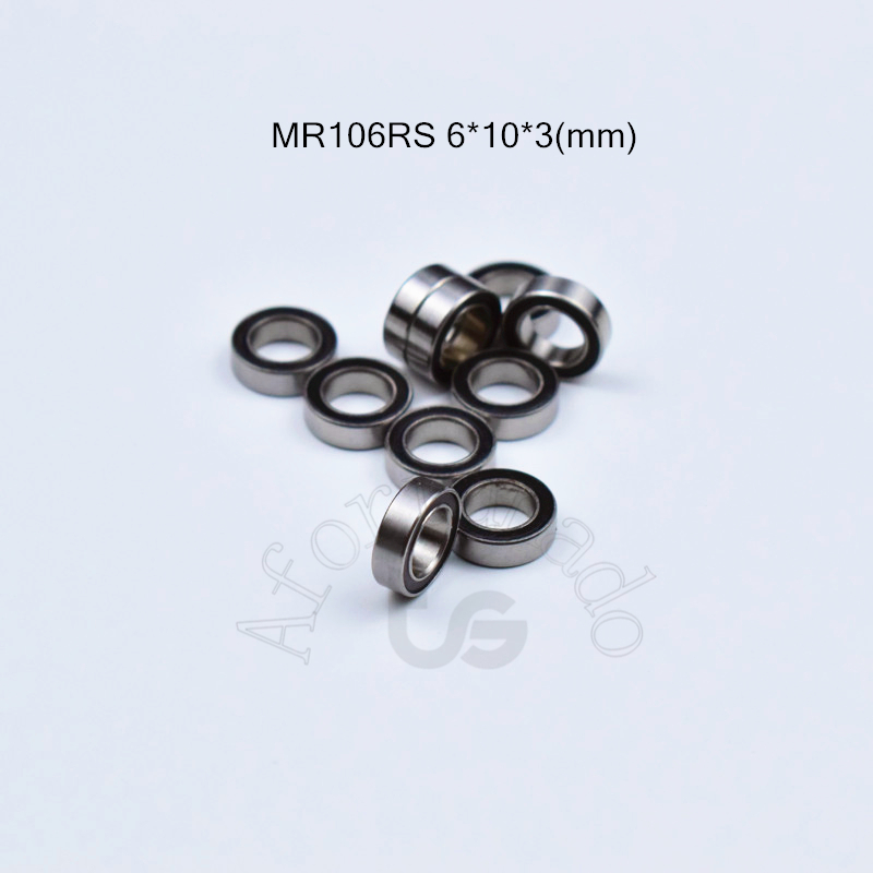 MR106RS 6*10*3(mm) 10pieces Bearing Rubber Sealed Free Shipping ABEC-5 Chrome Steel Miniature Bearing Hardware Transmission Part