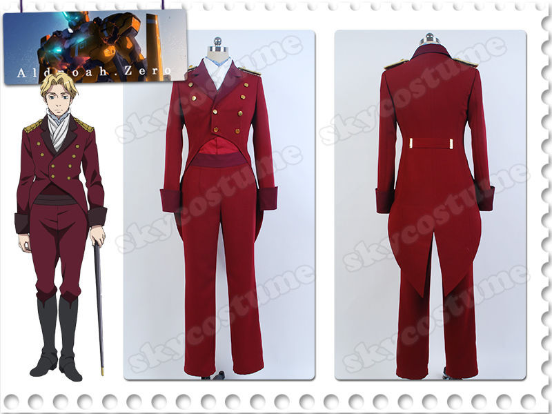 Aldnoah.Zero Count Cruhteo Cosplay Mars Orbital Knights Uniform Cosplay Costume Outfit Halloween Carnival Full Set mars pattern warhound titans full set f006