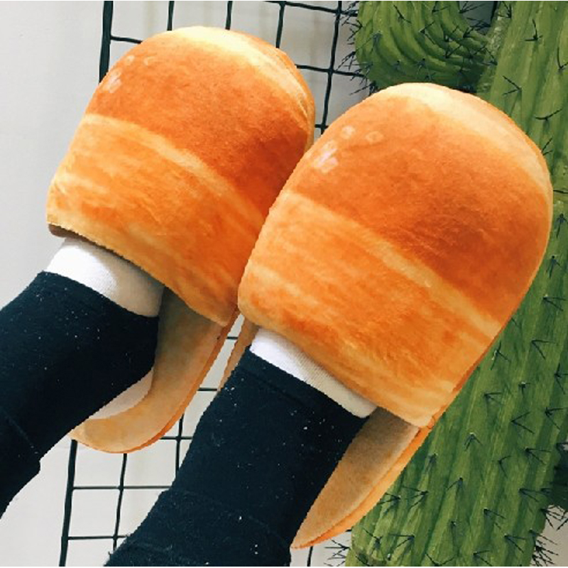 Jumbo Toys Squishy Food Toy Bread Slippers Womenmen -1331