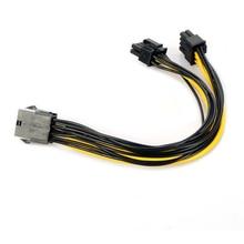 Новый 26 см 8 контактный разъем dual PCI-E PCI Express 8pin (6 + 2 pin) Мужской Силовой кабель для видеокарты BTC Майнер P15