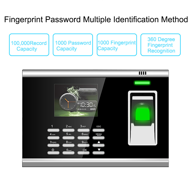 Fingerprint Door Access Control System Security Biometric Fingerprint Time Attendance System TCPIP Time Clock Employee Machine gprs real time fingerprint access guard tour system