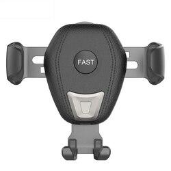 Qi bezprzewodowa ładowarka samochodowa do Iphone Xs Max X 8 Xr 10W szybkie ładowanie  szybka  bezprzewodowa telefon samochodowy uchwyt na Samsunga s8 S9