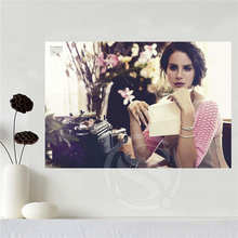 c22f5790704a1 Custom canvas poster Lana Del Rey poster home decoration cloth fabric wall  poster print Silk Fabric