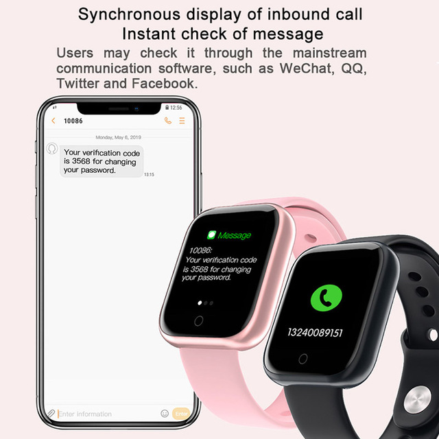 2020 Women Waterproof Smart Watch P70 P68 Plus Bluetooth Smartwatch For Apple IPhone Xiaomi Heart Rate Monitor Fitness Tracker 1