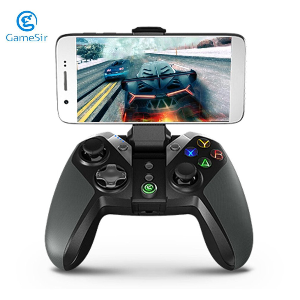 GameSir 2.4Ghz Wireless Bluetooth Gamepad Gaming Controller for Android TV BOX Smartphone Tablet PC VR Games Drop Shipping terios s3 wireless bluetooth gamepad bluetooth joystick gaming controller black for android smartphone tablet pc holder included