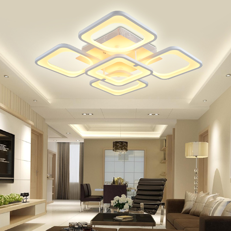 Aliexpress Buy Remote Control Modern LED Ceiling Lights Living Room Bedroom Luminarias Para Sala Dimming Lamp Deckenleuchten From Reliable